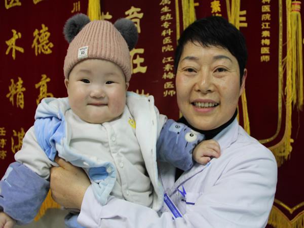 多囊卵巢合并输卵管堵塞7年 来成都治疗才终于生下白胖儿子